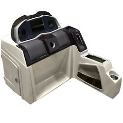 Pontoon Boat Steering Console 180695-02 | 38 1/2 Inch Beige Incomplete