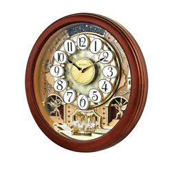 Bulova Musical 18 In. Wall Clock With 18 Different Tunes In Solid Hardwood Case