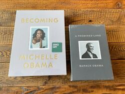 Signed 📝 A Promised Land Deluxe Barack Obama + Becoming Michelle Obama Deluxe