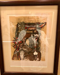 Wilfredo Lam Original Lithograpgh 26/99 14 1/4 By 18 Inches Signed And Numbered