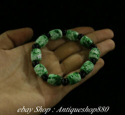 Natural Emerald Green Jade Carving Jewelry Bracelet Hand Chain Chiain Wristband