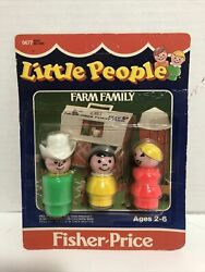 Vtg Fisher Price Little People Farm Family Unopened In Original Packaging 0677