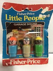 Fisher Price Vintage Little People Garage Squad 679 In Package 1983 Unopened