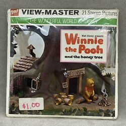 Vtg Nos Sealed Disney's Winnie The Pooh And The Honey Tree B362 View-master Reels