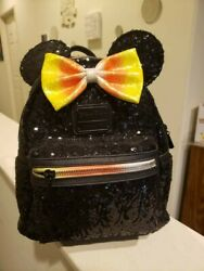 Nwt Disney Parks 2019 Loungefly Candy Corn Sequins Mini-backpack Halloween