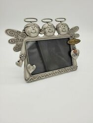 Fetco Home Decor Pewter 3x 5 Picture Frame W Attached Grandkids Pewter Charm
