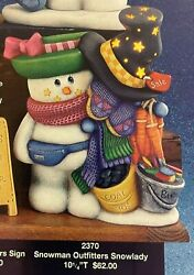 Vintage Clay Magic Ceramic Mold 2370 Snowman Outfitter Snowlady 10 1/4t
