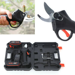Electric Pruning Shears Cut Tool Battery Powered Cordless Pruner Tree Branch Us