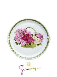 Rare Givenchy Roses Porcelain China Cups Mugs Cake Stand Plate Platter Set