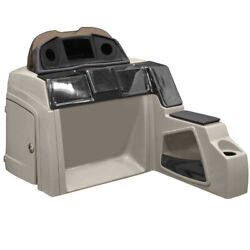 Pontoon Boat Steering Console 180831-01 | 51 1/4 Inch Taupe Black