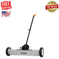 Magnetic Sweeper 24in Large Magnet Pickup Lawn Sweeper Roofing Tools Yard Magnet