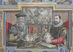 Title Page Mercator And Hondius L'atlas Ou Meditations Cosmographiques 1613-1616 §