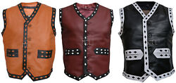 Real Leather Warrior Vest The Warriors Movie Motorcycle Rider Costume Jacket
