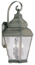 Livex Lighting 2605-29 Exeter Outdoor Wall Light Vintage Pewter