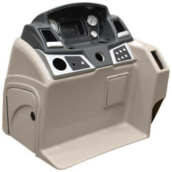 Ranger Pontoon Boat Steering Console | W/ Gauges Reata Taupe Tears