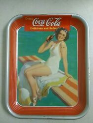 1939 American Art Works Inc Coca-cola Serving Tray Authentic Girl Swimming Coke