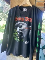 Vintage 90s Snoop Dogg Paid The Cost To Be The Boss Long Sleeve Rap Tee Sz Large