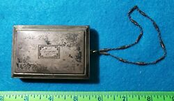 Antique Deco Sterling Silver Coin / Make-up Purse W/strap - James Blake Co 123g