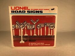 Lionel 6-2180, Road Signs 14 Total