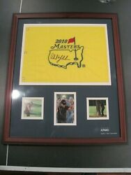 Phil Mickelson Auto Golf 2010 Master Flag Kpmg Numbered Professional Framed Look