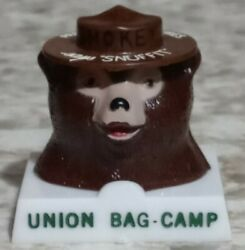 Vintage Smokey The Bear Snuffit Ashtray Magnet Prevent Forest Fires Advertising