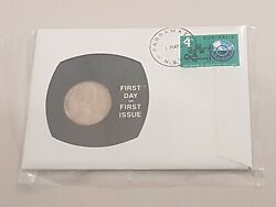 1967 Pnc 20 Cent And 4c Stamp First Day Cover First Issue Unc Gem Rarest Coin