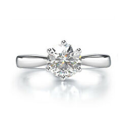 Antique 0.80 Ct Natural Diamond Anniversary Ring Solid 18k White Gold Size 6 7 8
