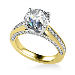 Stunning 1.25 Ct Real Diamond Anniversary Ring Solid 18k Yellow Gold Size 6 7 8