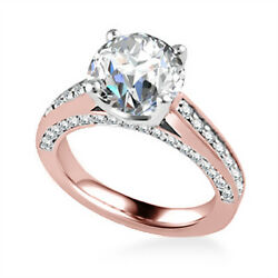 Stunning 1.25 Ct Real Diamond Anniversary Ring Solid 18k Rose Gold Size 6 7 8 9