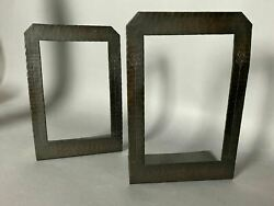 Pair Of Vintage Antique Roycroft Hammered Copper Arts And Crafts Bookends