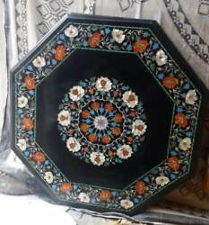 3and039x3and039 Marble Dining Table Top Inlay Rare Stone Octagon Center Coffee Table Ut
