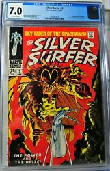 Silver Surfer 3 - Marvel Comics 12/68 - Cgc 7.0 - Off-white Pages