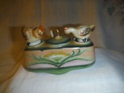 Salt And Pepper Shakers Vintage Occupied Japan Rocking Chickens 140