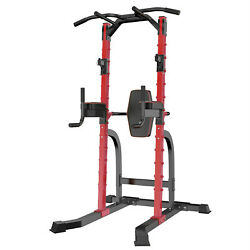 Ainfox Pts006 Pull Up Bar Power Tower Adjustable Dip Station Home Gym Fitness