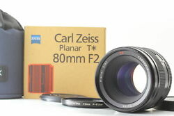 [top Mint In Box] Contax Carl Zeiss Planar T 80mm F/2 Lens For 645 From Japan