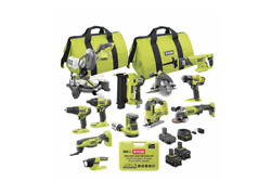 One + 12- Power Tool 300-piece Combo Kit Set With3 Li Batteries And Charger Usa