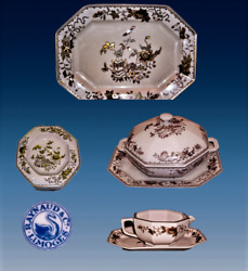 Vintage French Raynaud Limoges New Condition Gold Karat 33/40 Pc Soft Pink Set