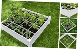 Gardens 4x4 Garden Bed With Grow Grid Packaging May Vary Vinyl White