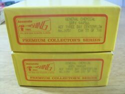 Ho Scale Lot Of 2 General Chemical Acf Centerflow Hoppers - Accurate Finishing