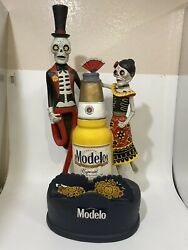Modelo Especial Day Of The Dead Bubblehead Beer Sign Halloween Holiday Beer Tap