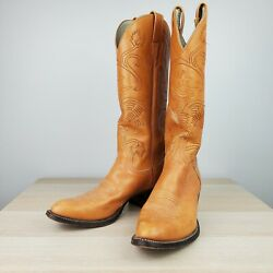 Rare Vintage Larry Mahan X Budweiser Embroidered Cowboy Boots