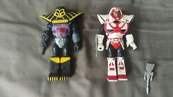 Vintage X-changers Colonel Strong And Daark Lord Figures Acamas Toys 1980's