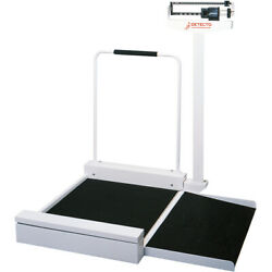Detecto 495 Stationary Wheelchair Scale With Mechanical Weighbeam 400 Lb X 4 Oz