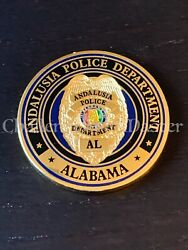 D58 Andalusia Alabama Police Department Challenge Coin