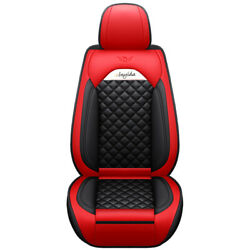 Universal Seat Cover For 97car Model Standard Leather Front Seat 1 Black Red