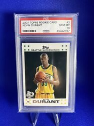 2007 Topps Basketball Kevin Durant Rookie Rc 2 Psa 10 Gem Mint 🔥🔥🔥🔥🔥