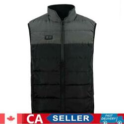 Smart Usb Heating Vest Outdoor Camping Warm Electric Down Waistcoat M-3xl