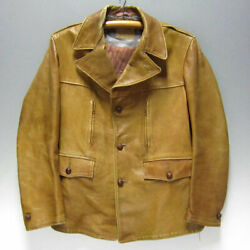 Californian 1960's Vintage Leather Jacket Camel Size 42 Used From Japan