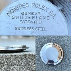 Used 1971 Rolex Case Back 1675 Gmt Stainless Steel Ll.71 Root Beer Pepsi Parts