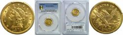 1871-s 2.50 Gold Coin Pcgs Ms-61